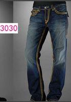 kaya pantolonu toptan satış-Düz bacak pantolon 18SS Yeni Gerçek Elastik kot Erkek Robin Kaya Canlanma Kot Kristal Çiviler Denim Pantolon Tasarımcı Pantolon erkek boyutu 30-40