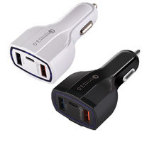 Wholesale type c car charger for sale - QC Type c USb Quick Charge Car charger W A Usb Ports Car chargers auto power adapter for iphone x samsung ipad android phone gps