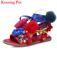 китайская фирменная обувь оптовых-2017 Fashion Chinese Style  Shoes Sexy Flower Ankle Strap Lace-up Women Sandals Colors The Ball Delicate Gladiator Shoe L56