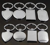 etiquetas de clave de acero inoxidable al por mayor-Etiqueta en blanco del metal llavero creativo del coche llavero personalizado de acero inoxidable llavero de publicidad de negocios para la promoción