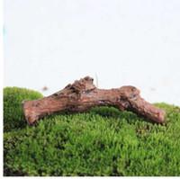 ingrosso paesaggio secco-Piante grasse Micro Landscape Decoration DIY Terrarium Accessori Rami di alberi secchi Trunk Artificiale Mini Fairy Garden Miniature