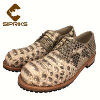 ingrosso scarpe da snakeskin scarpe uomo-SIPRIKS Uomo Goodyear Welted Shoes Uomo italiano Python Skin Dress Shoes Hipster Snakeskin Gents Suit Uomo pelle animale