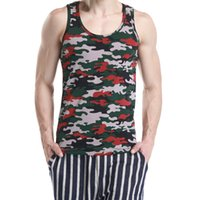 верхняя одежда оптовых-SEOBEAN NEW Mens Camouflage Hot Sleeveless Vest Tank Top Tee T-shirts S/M/L/XL
