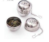 Stainless Steel Egg Shaped Egg-shaped Tea Balls Teakettles Infuser Strainer Locking Spice Ball 4cm 200pcs lot