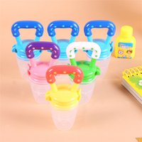 Wholesale toddler infant toys - Baby Infant Toddler Slicone Food Fruit Feeder Kids Nipple Feeding Safe Nipple Pacifier Size Toys Bottles Silicone Pacifier Colors