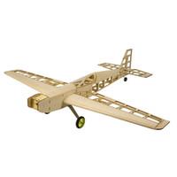 ingrosso costruire aereo-Balsawood Airplane Model RC Aereo elettrico Trainer T10 800mm Wingspan Laser Cut Balsa Wood RC kit da aeroplano per costruire e volare