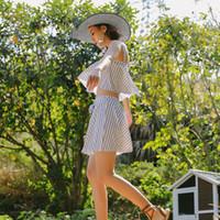 ingrosso abiti da spiaggia moda-Costume da bagno bikini da donna a due pezzi, quando la pittura estiva si veste e segue la moda