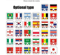 Wholesale Russia World Cup Tattoo Stickers Waterproof National Flag Banners Tattoo Stickers Heart shaped on Face Arm Teams GGA86