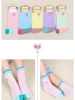 Wholesale boys bamboo socks online – funny Cute Kids finger socks spring autumn soft bamboo fiber sox Children thin cartoon candy socks boys girls creative toe socks