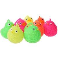 отраженный мяч оптовых-Милая мигающая игрушка цыпленок загорелся прыгающий мяч игрушки дети подарок chrsitmas творческий светящиеся игрушки курица животных