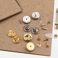 metal destek sırtları toptan satış-.Wholesale-100 ADET 1.1 cm Düz Altın Metal Kelebek Klip ve Pin Geri ücretsiz broochesbadge uygun, nikel ücretsiz, pazarlık için