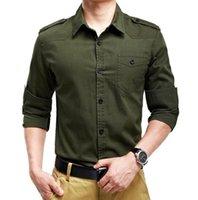 camisas macias da flanela dos homens venda por atacado-Cor sólida Camisas Dos Homens Casuais Slim Fit Camisa Dos Homens de Manga Longa Bolso Confortável Verde Cáqui Camisas Dos Homens
