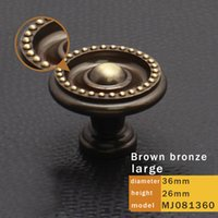 Wholesale 5 Copper handle European bronze wardrobe door handle cabinet drawer single hole with mm screws