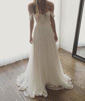 off beyaz dantel nedime elbiseleri toptan satış-Resmi Ekip Beyaz veya Fildişi Dantel A Hattı Gelinlik kadın Kapalı Omuz Gelin Kıyafeti Özel Günlerinde Nedime Parti Elbise 17LF209