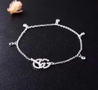 ingrosso marchio coreano dei monili d'argento-S925 argento zircone cristallo gioielli di marca femminile accessori moda Coreana gioielli amanti regalo di compleanno PS5259A