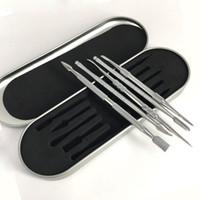 ingrosso scatola di titanio-Kit di utensili da 106-121mm Kit di strumenti di cera Set di contenitori in alluminio per imballaggi vax atomizzatore titanio strumento dabber Per penna vaporizzatore erba secca
