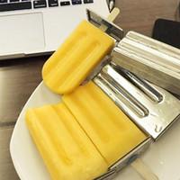 eiscreme-lachsformen groihandel-Mold Lolly Edelstahlformeinschließung Popsicle Moulds 6cells Gefrorene Eiswürfelformen Popsicle Maker Diy Ice Cream Werkzeuge Kochen Tools Mode