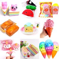Wholesale food ice - Squishy jumbo cake Ice Cream doll Squishy Slow Rising Sweet scented Charms Food rebound Bread Kid Toys Decompression Toy