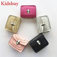 Wholesale Famous Babies - Kidsbuy Newest Stylish Purse for Childrens Little baby girls Small shoulder Bags Toddlers Famous brand bag Kids Leather New Year bags KB101