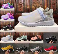 Wholesale Blank Fabrics - Original NMD human race trail Running Shoes Men Women Pharrell Williams NMD Runner Boost Equality Holi Blank Canvas sports trainers Shoe