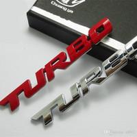 Wholesale car auto graphics resale online - TURBO Turbine Pressure Boost Labeling D Automobile Auto Logos Fashion Classical Car Sticker High Grade Red White cy Ww