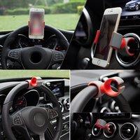 apfellenkrad großhandel-Dewtreetali Autotelefonhalter Navigation faul Schnalle Typ Lenkrad mit Steering Outlet Sitz für Samsung Apple Xiaomi