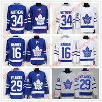 Wholesale Womens 16 - New Toronto Maple Leafs #34 Auston Matthews 16 Mitchell Marner 29 William Nylander Blank Royal Blue Stitched Hockey Mens Youth Womens Jersey
