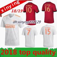 Wholesale Fc Soccer Jersey - new 2018 2019 Atlanta United fc home soccer jersey 18 19 ALMIRON JONES MARTINEZ GARZA VILLALBA MCCANN away football shirts Free shipping