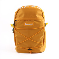 Wholesale backpack for fishing resale online - New Designer Backpack With Letter Printed Double Shoulder Bag Luxury Outdoor Traveling Schoolbags For Women Students Backpacks A01