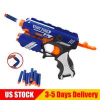 Wholesale outdoor kids toys online - Blaster Gun with Soft Bullets Airsoft Toy Gun Pistol Soft EVA Dart Blaster Guns Outdoor Toys for Kids US STOCK