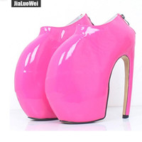 Wholesale pole dance halloween resale online - Women Ankle Boots Stiletto Curved Heels Platform Pumps Round toe Sexy Pole Dancing Shoes CM High Heels PU Leather Boot for unisex