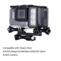 Wholesale waterproof action camera gopro resale online - Gopro M Underwater Diving LED lamp Waterproof LED Light for GoPro Hero SJCAM XIAOYi Sports Action Cameras