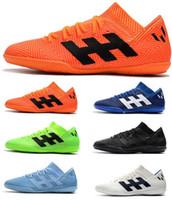 botas messi al por mayor-Tacos de fútbol para hombre más baratos de la Copa del mundo 2018 Nemeziz Messi Tango 18.3 IC Zapatos de fútbol para interiores Tango 18 Botas de fútbol Scarpe Calcio Chuteiras