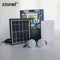 Wholesale mp5 for sale - Xionel Hot Sale Solar Panel Solar DC Lighting System Emergency Kits for Outdoor Lighting and Cellphone Charging