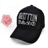 Wholesale led baseball caps wholesale - Led Zeppelin Rock Band GOOD Quality brand cap for men women Gorras Snapback Caps Baseball Caps Casquette hat Sports Outdoors Cap