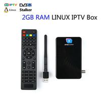 receptor de satélite wifi compatible al por mayor-Soporte 5 portales stalker middleware IPHD súper IPTV box DVB S2 receptor de satélite USB wifi 2GB RAM Linux OS más rápido MAG 250 254
