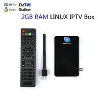 Wholesale mag 254 iptv box for sale - Group buy Support portals stalker middleware IPHD super IPTV box DVB S2 satellite receiver USB wifi GB RAM Linux OS faster MAG