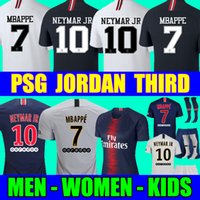 jerseys de fútbol para hombres al por mayor-Top Tailândia qualidade AIR PSG JORDAN 3RD third camiseta de fútbol 2019 camisa Paris Saint Germain NEYMAR JR MBAPPE soccer jerseys camisa cavani Survetement futebol kit CHAMPIONS camisa de futebol