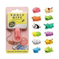 mini telefon aksesuarları toptan satış-Sevimli Hayvan Bite USB Yıldırım Şarj Veri Koruma Kapak Mini Tel Koruyucu Kablo Kordon Telefon Aksesuarları Yaratıcı Hediyeler 31 Tasarımlar