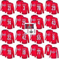 Discount hockey jerseys carlson - 2018 Stanley Cup Final Champion Washington Capitals 77 T.J. Oshie Nicklas Backstrom 8 Alex Ovechkin Braden Holtby John Carlson Hockey Jersey