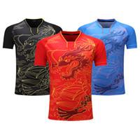 mulheres jersey china venda por atacado-Nova Equipe China Camisa De Tênis De Mesa Mulheres / Homens Tênis De Mesa Jersey camisa Pingpong Ma L, Ding N Uniformes Treinamento T Camisas Y1893006