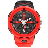 Wholesale fashion clock s for sale - SMAEL Fashion Sport Watch Men Top Brand Luxury Famous Waterproof LED Digital Wrist Watch S Shock Male Clock For Man Relogio S917