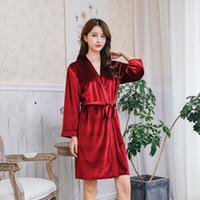 5d8c146d2f chinese wedding robes Australia - New Chinese Women Wedding Robe Autumn  Winter Velvet Sleepwear Long Sleeve