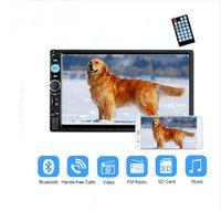 chinesisch multimedia großhandel-Neue Auto Radio 2 din Autoradio MP5 Multimedia Player 7 '' LCD Touchscreen Stereo Audio Bluetooth USB AUX Unterstützung Rückfahrkamera