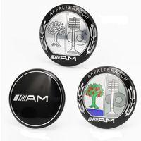 düğme durakları toptan satış-3D Sticker AMG amblem Için Mercedes BZ Start Stop Motor Düğmesi dekoratif 39mm Çapı iç Ateşleme Amblem