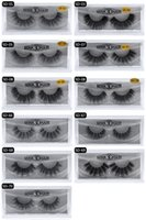 Wholesale real hair lash extensions resale online - 20style d Mink Hair Fake Eyelash Thick real mink HAIR false eyelashes natural Extension fake Eyelashes false lashes