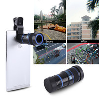 Wholesale iphone zoom resale online - Universal X Zoom Mobile Phone Telescope Lens Clip on For iPhone Samsung Xiaomi Pad HTC Smart Phones