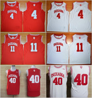 Wholesale uniforms basketball jerseys for sale - Group buy College Basketball Shirt Isiah Thomas Jerseys Indiana Hoosiers Victor Oladipo Cody Zeller Uniform Rev New Material Red White