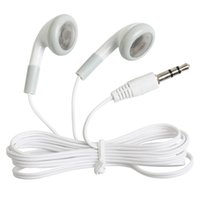 Wholesale cheapest earbuds - Wholesale Cheapest Disposable Earphones For Mobile Phone Headphone Earbuds For bus train plane For school museum one time use as gift