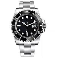 relógio de homens cerâmica bezel venda por atacado-master Marca de luxo Mens Watch 40mm 116610 Aço Inoxidável Bezel Cerâmica Movimento Automático relógios Mecânicos Original-fivela Homens relógios de pulso rolex